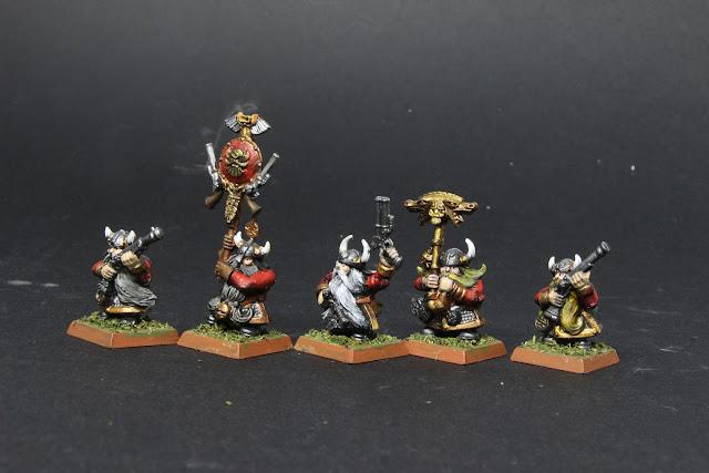 """arquebusiers Nains pour le jeu King of war.  """"Les sentinelles de guerre""""."""