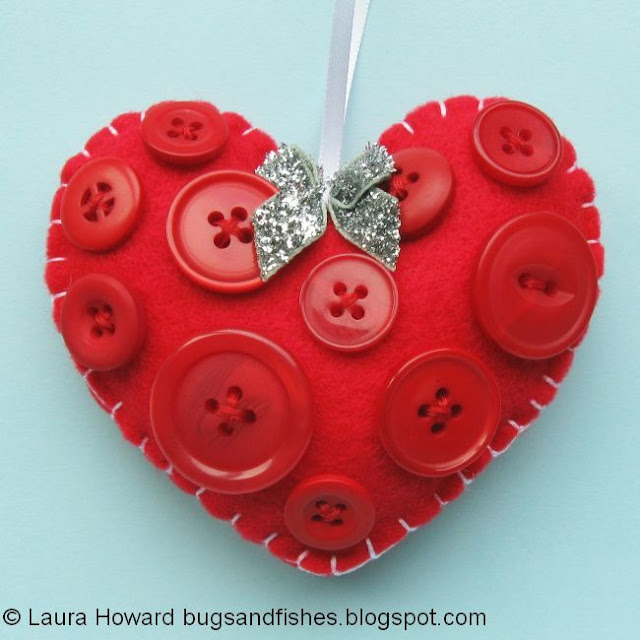 felt heart ornament