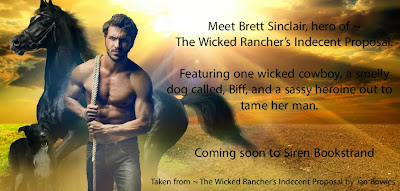 Jan Bowles: Coming Soon to Siren-Bookstrand ~ The Wicked Rancher's Indecent Proposal
