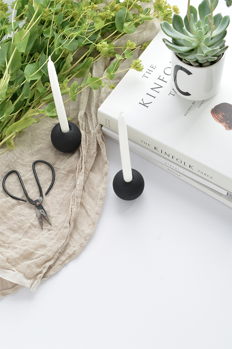 how to make a modern minimal candle holder diy
