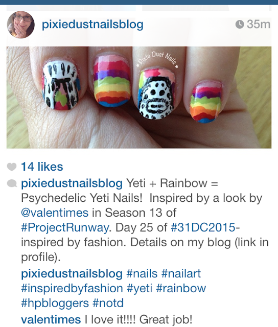 Yeti Nails Inpsired by Fashion