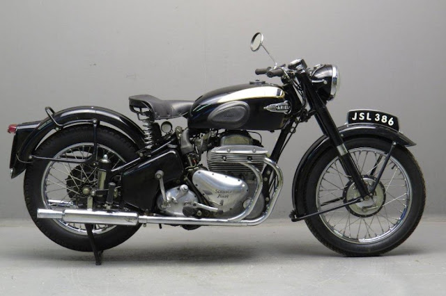 Ariel Square Four 1950s British classic motorcycle