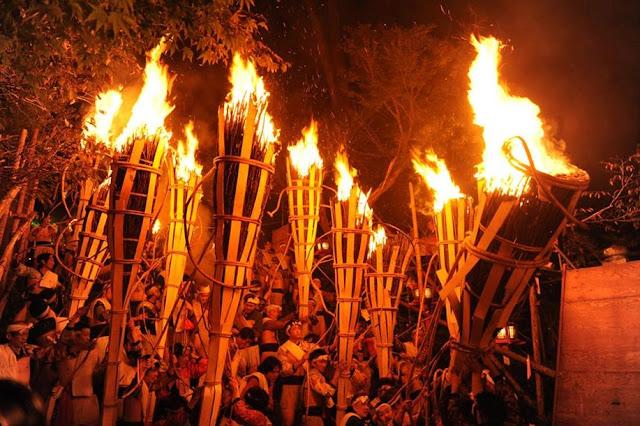 Fire Festival of Kurama at Yuki Shrine, Sakyo-ku, Kyoto