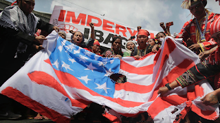 Philippines Protest At US Embassy In Manila sees demonstrators Burn Flag After Van Ran Down Protesters