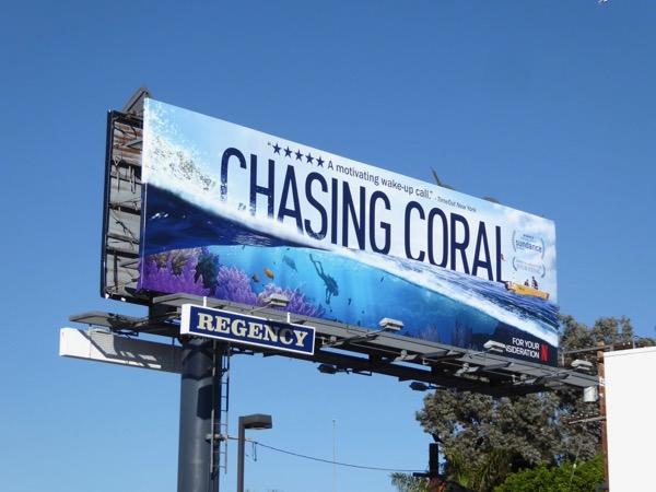 Chasing Coral consideration billboard