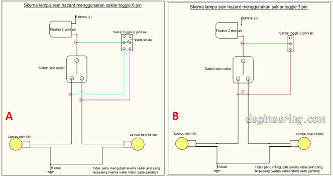Cara Mudah Membuat Lampu Hazard Motor Sendiri