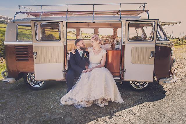 Devon wedding, Exmoor wedding, campervans, Lynton and lynmouth wedding