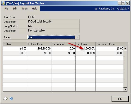 Beware The 2012 Tax Tables Microsoft Dynamics Gp Community