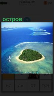 1100 слов вид сверху на остров в океане 29 уровень
