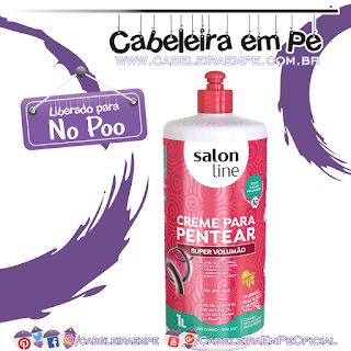 Creme para Pentear Super Volumão - Salon Line (No Poo)