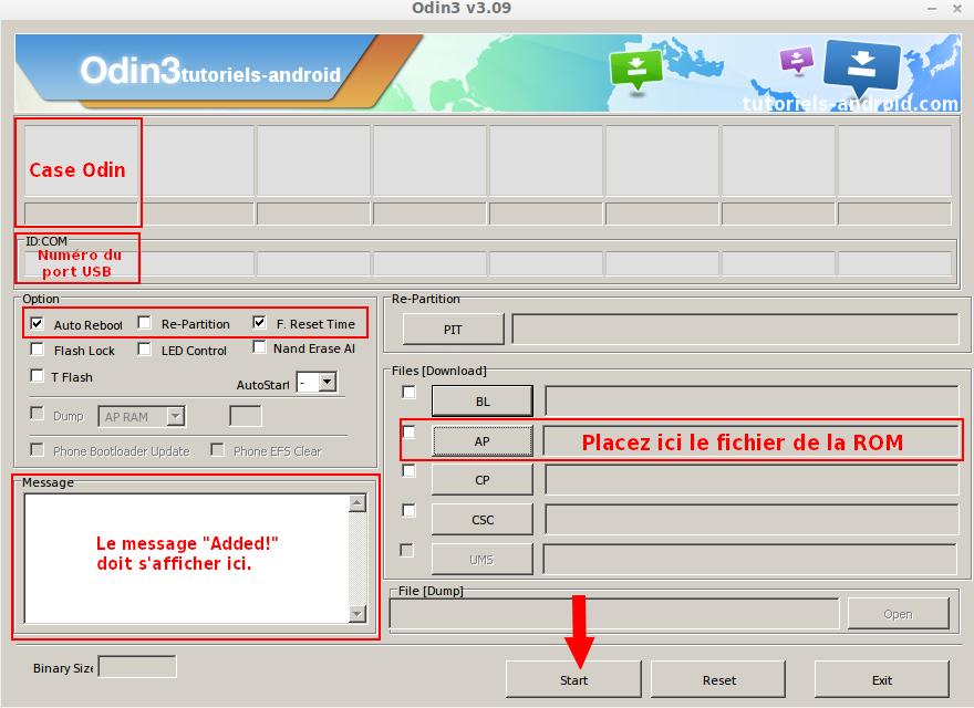 Installation N9005XXUDMK2 avec ODIN