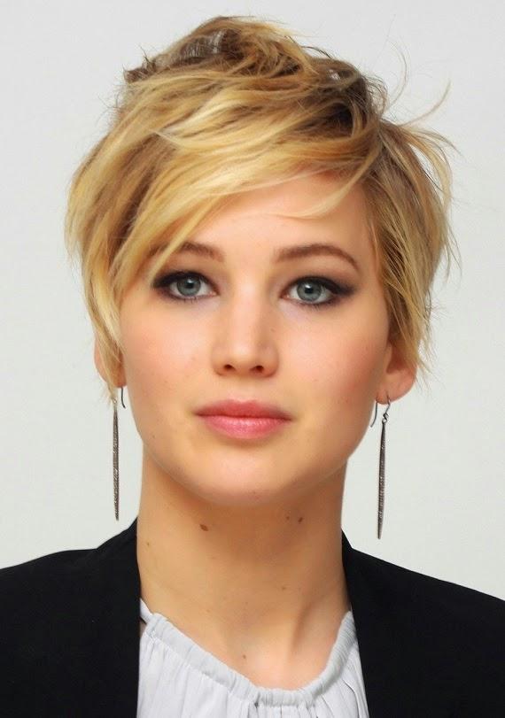 Jennifer Lawrence Short Hairstyles Fashion