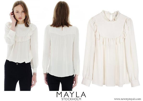 Crown Princess Victoria wore Mayla Daria silk blouse