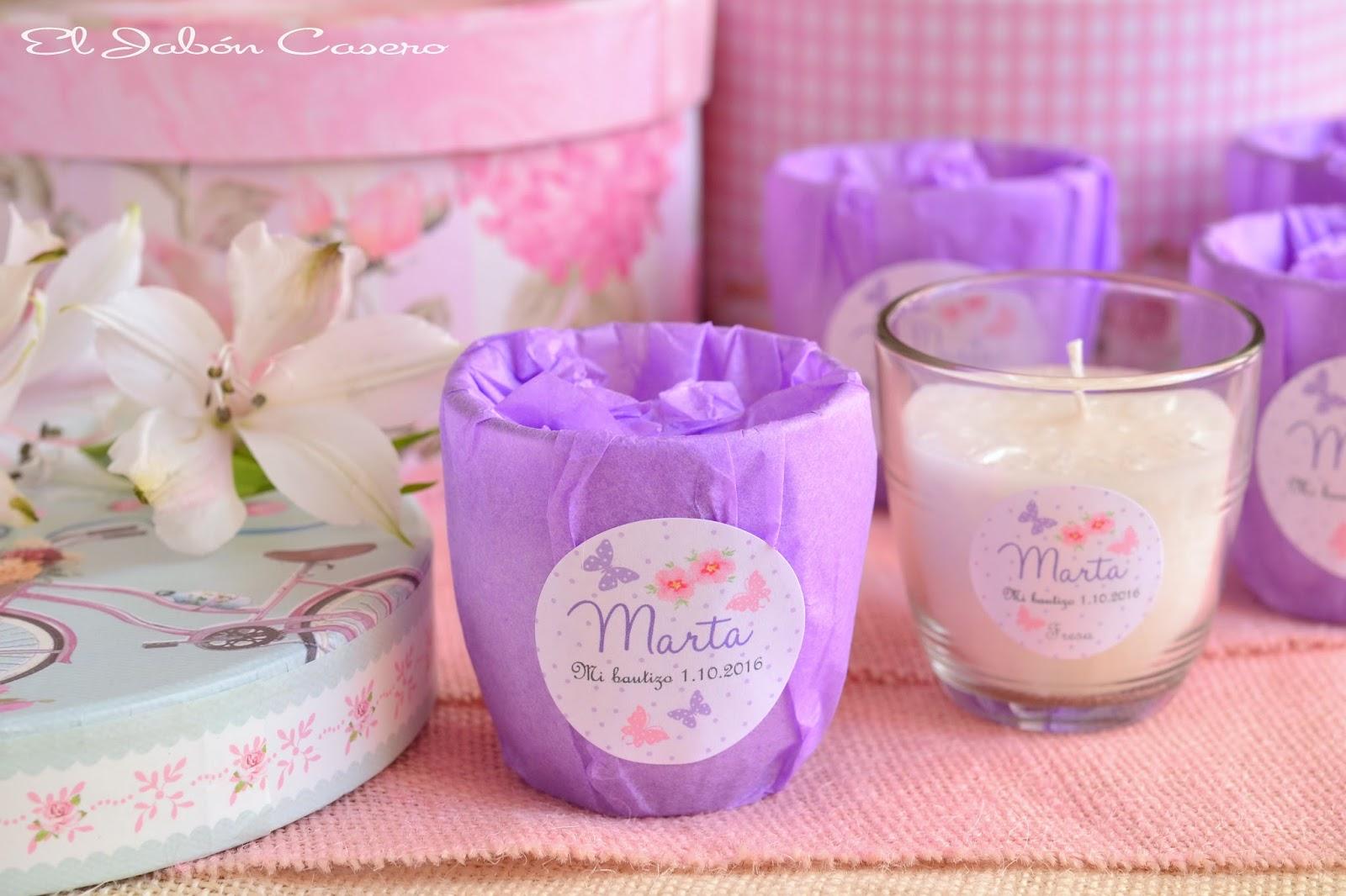 El jab n casero detalles para bautizos velas naturales - Etiquetas para velas ...