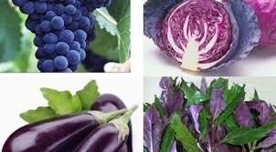Buah dan sayur warna ungu