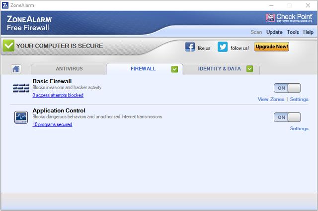 تحميل برنامج الحماية والجدار الناري ZoneAlarm Free Firewall