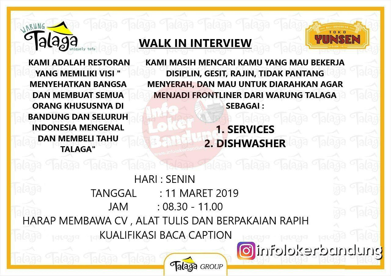 Lowongan Kerja Warung Talaga Bandung ( Walk In Interview ) Maret 2019