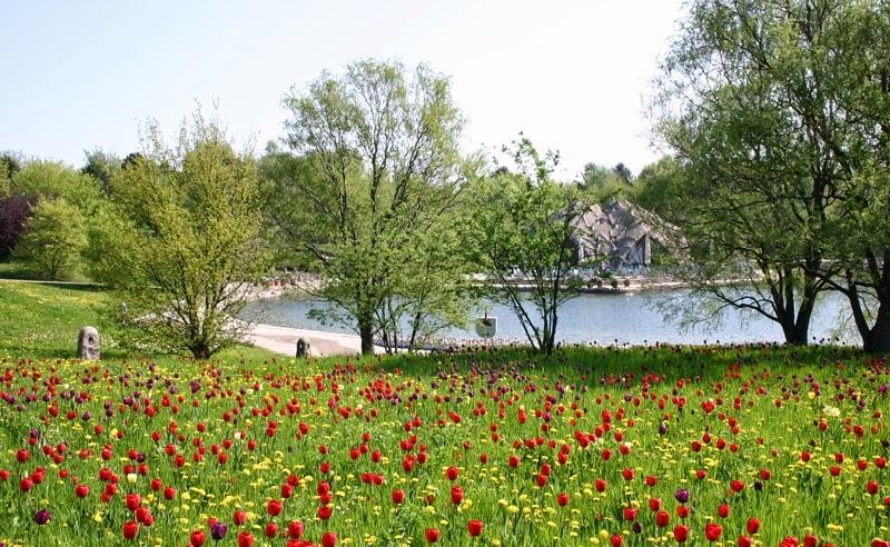 Parque Britzer Garten em Berlim