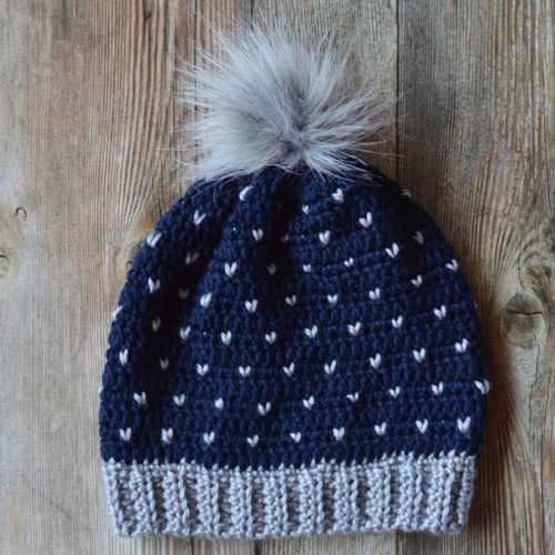 Crochet Snowfall Slouchy Hat - Free Pattern
