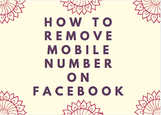 How to remove mobile number on Facebook