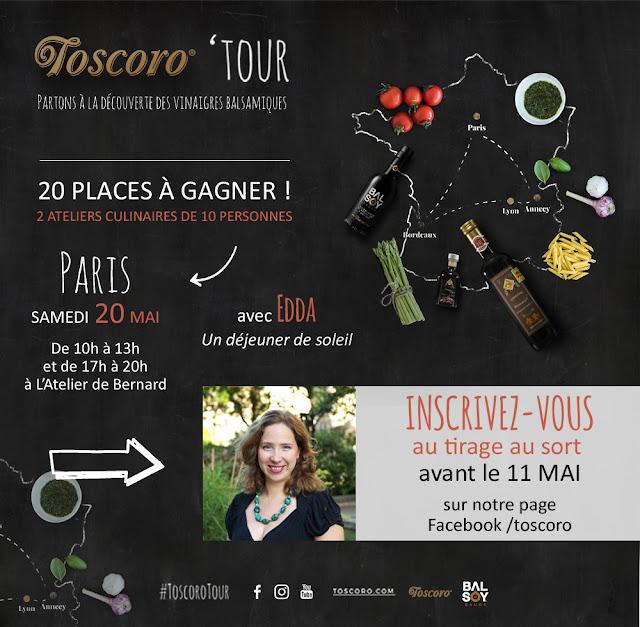 Gagnez ateliers Toscoro Tour avec Edda Onorato le 20 mai à Paris