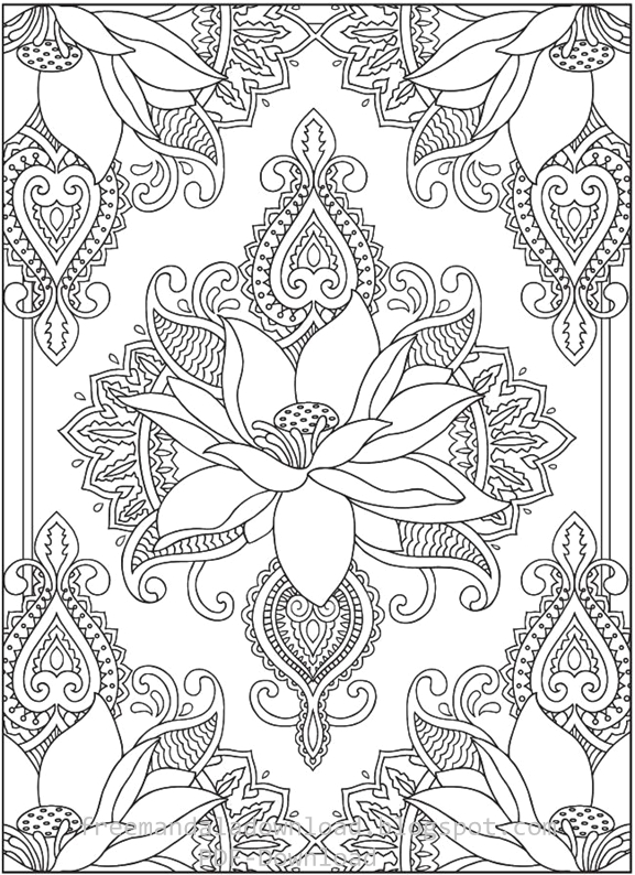 Creative Therapy An Anti-Stress Coloring Book Hannah Davies - printable lined paper sample