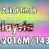 Kadar Zakat Fitrah Malaysia Tahun 2016M/1437H