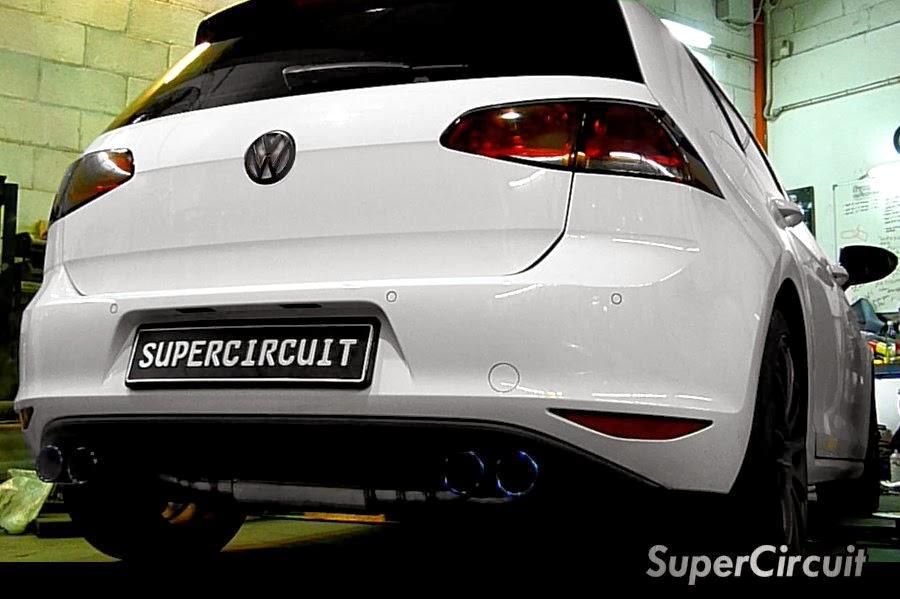 supercircuit exhaust pro shop vw golf 7 1 4 tsi turbo. Black Bedroom Furniture Sets. Home Design Ideas