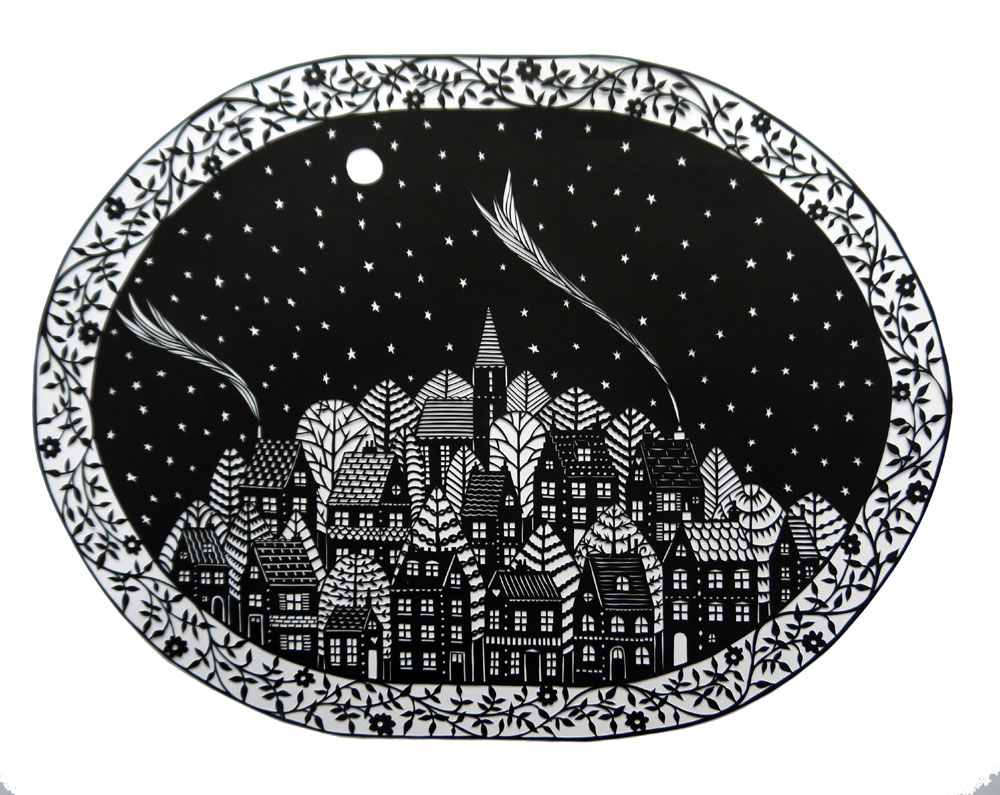 Suzy Taylor paper cut illustration