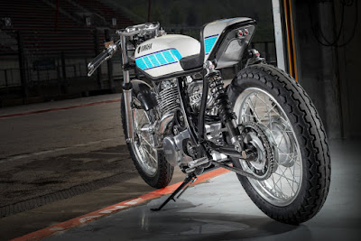 "Yamaha SR 400 Superpercharger ""Bernard Ansiau Tribute"" by Fred Krugger"
