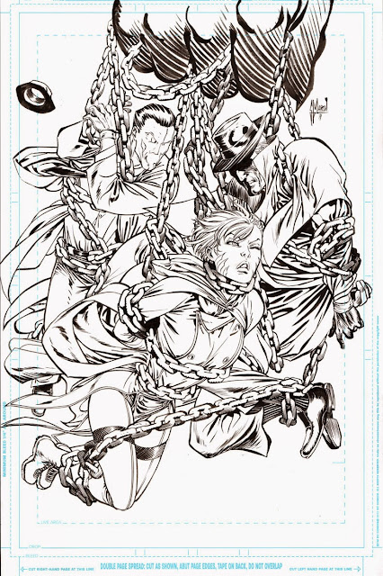 JUSTICE LEAGUE DARK #2 cover process by Guillem March