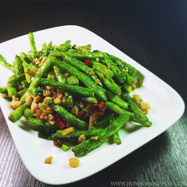String Beans with Minced Meat and Dried Chilli