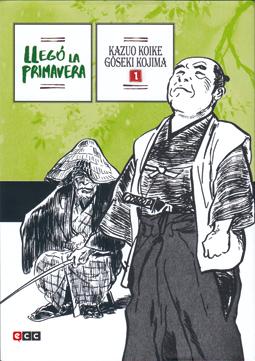 Llegó la primavera de Kazuo Koike y Kojima, manga samurais japon