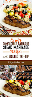 Carols Completely Fabulous Steak Marinade and Grilled Tri-Tip found on KalynsKitchen.com
