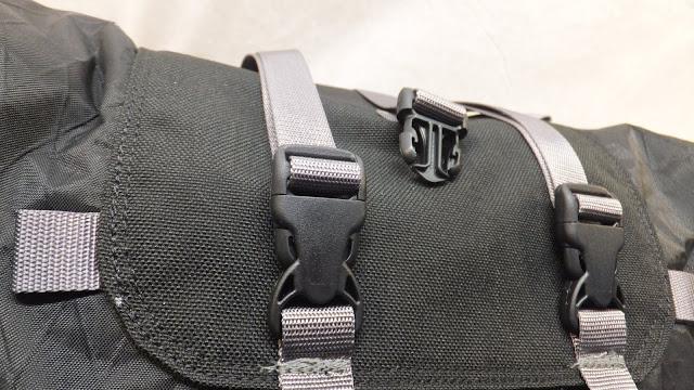 Arkel Rollpacker 25 bikepacking webbing and buckles