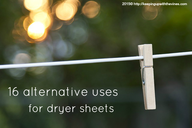 16 Alternative Uses for Dryer Sheets