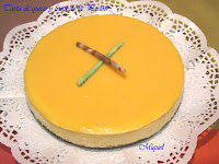 Tarta de queso y fruta de la pasión
