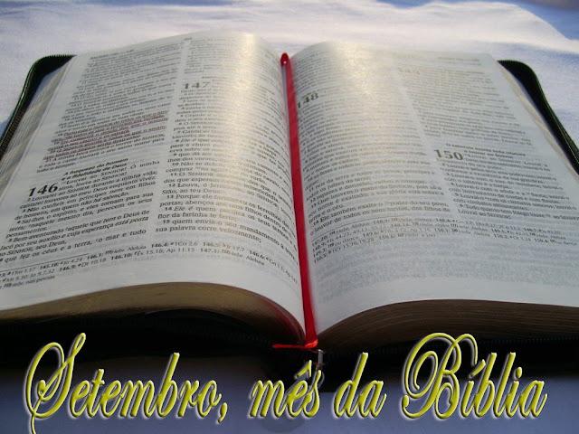 Resultado de imagem para setembro mês da bíblia