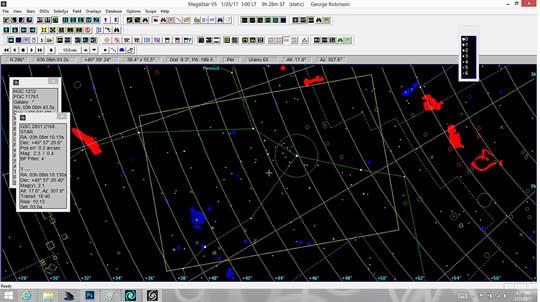 Resident Astronomer uses Megastar catalog to overlay camera frame on star background
