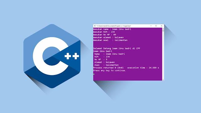 Contoh program C++ input dan output