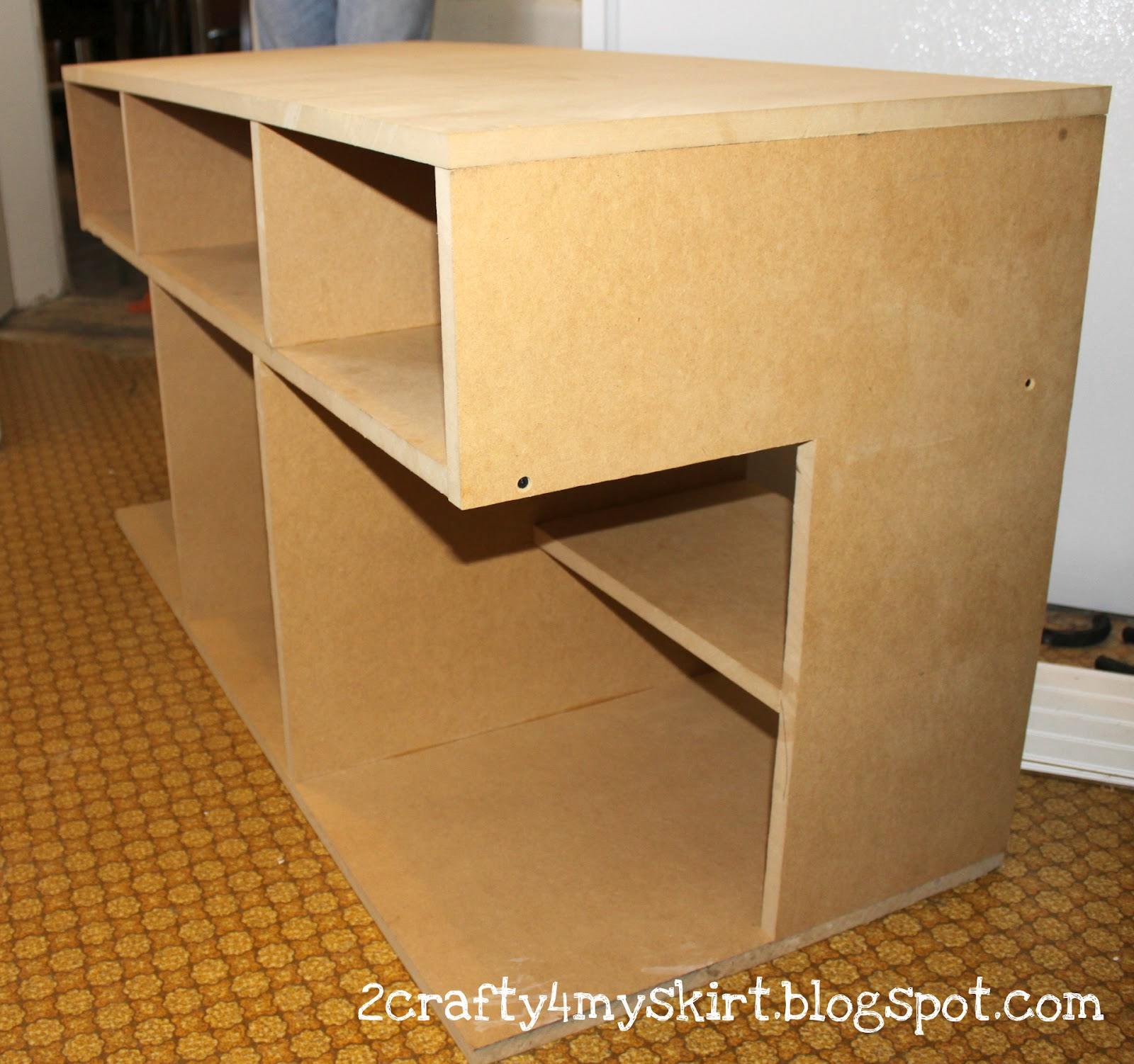 2 Crafty 4 My Skirt Apothecary Media Console With Storage