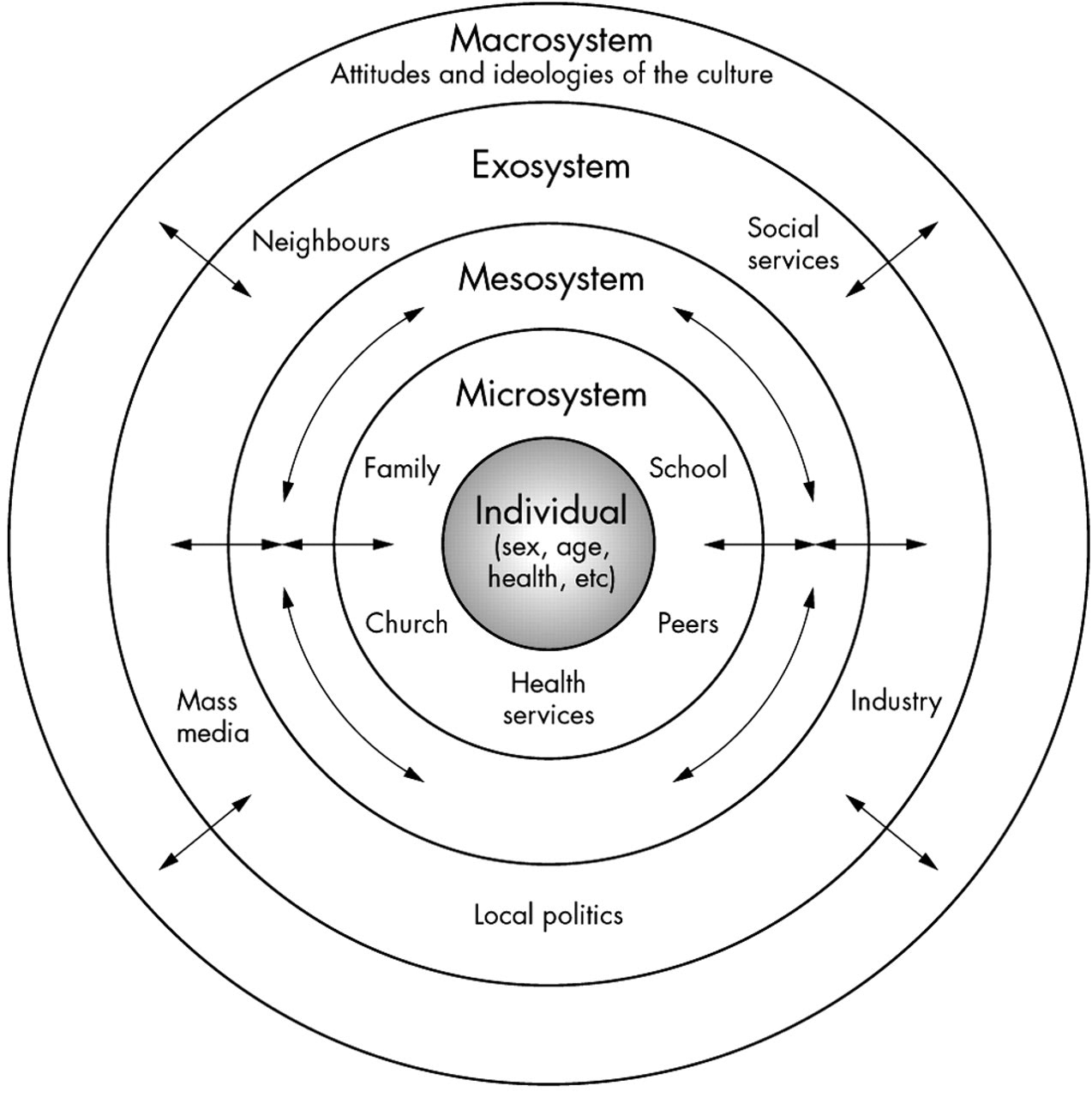 Education Psychology Bronfenbrenner S Ecological Theory