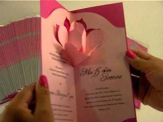 Tarjetas de invitaciones de 15 años para imprimir