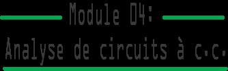 Analyse de circuit à courant continu