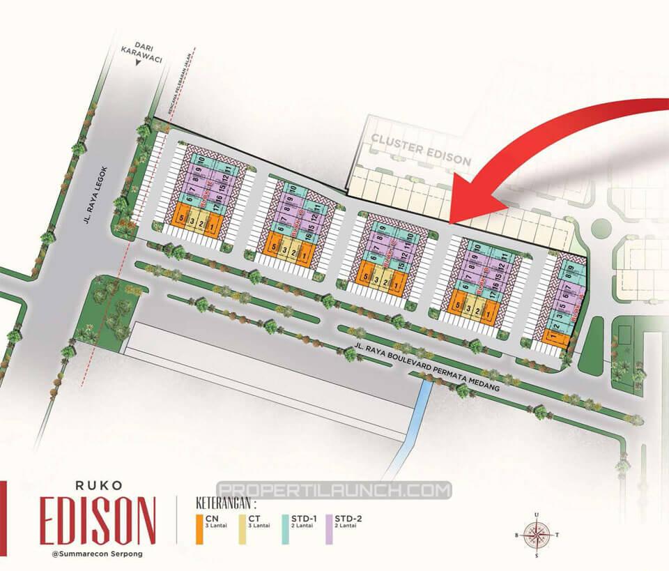 Site Plan Ruko Edison @ Summarecon Serpong