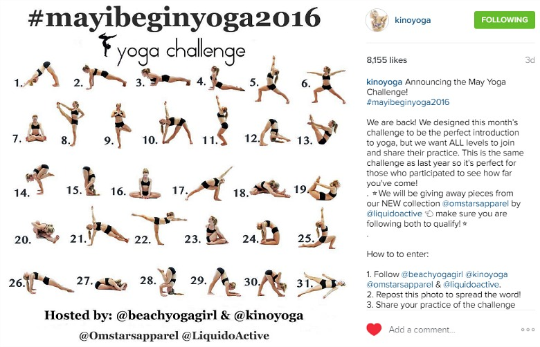 Kino May yoga challenge