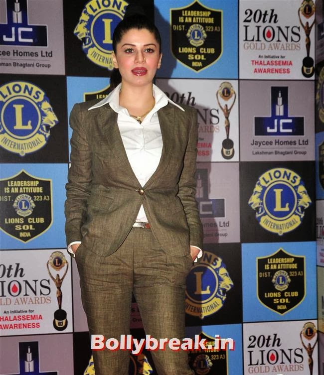 Kainaat Arora, Celebs at Lions Gold Awards 2014