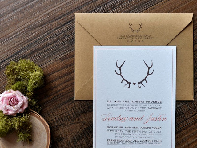 Antler Wedding Invitations