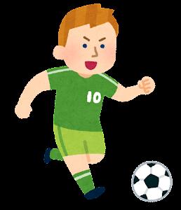 サッカー選手のイラスト(男性・白人)