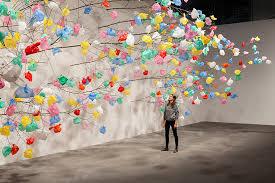 Plastic Bag Tree Art